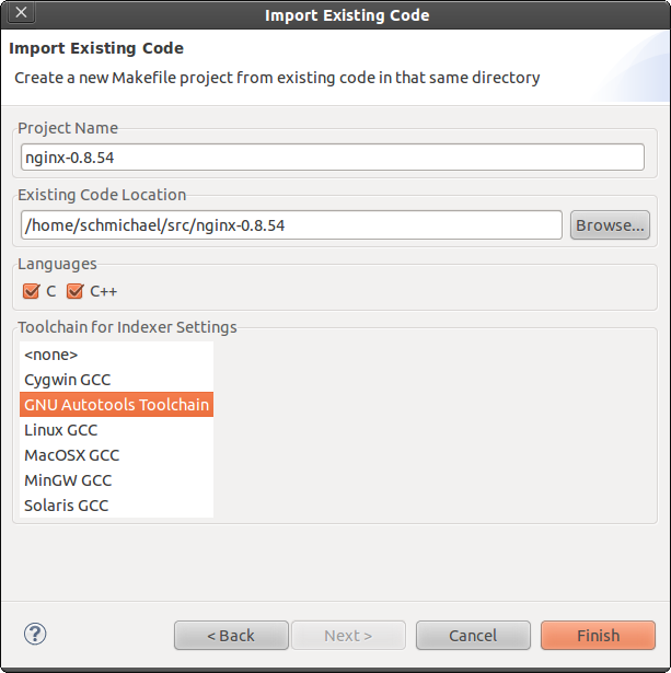 Import existing code