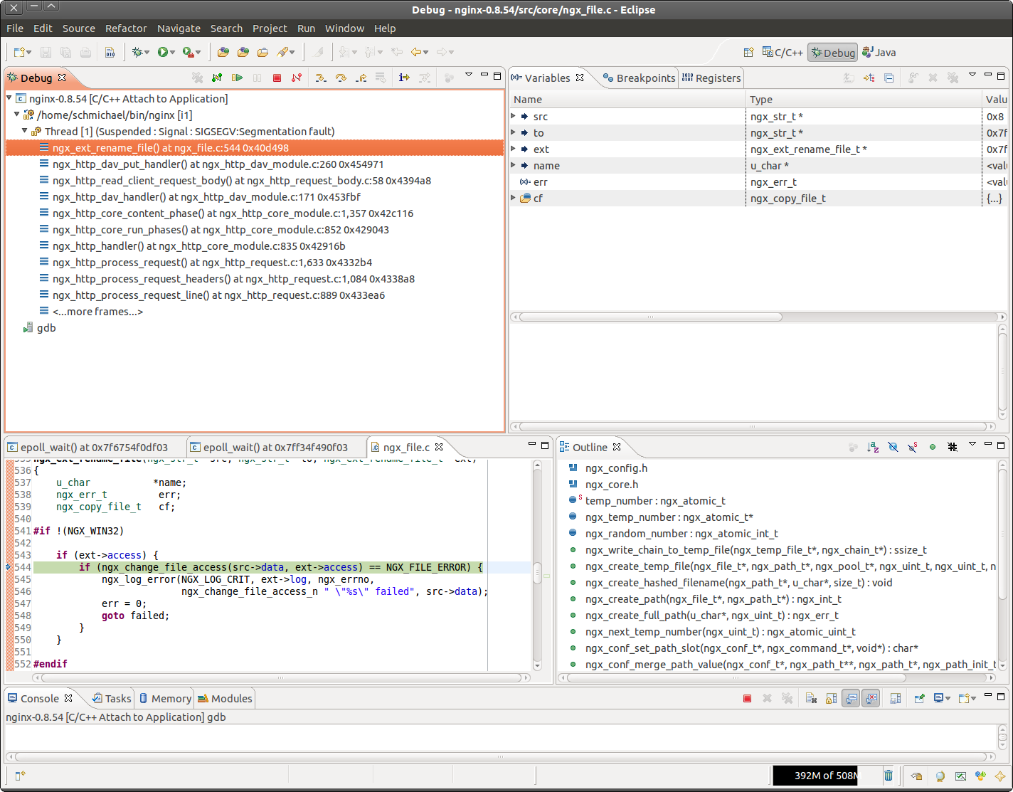 Debugging in Eclipse